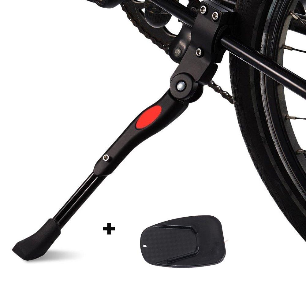Soporte de Lateral de Bicicleta Plegable,AZX,Patas de Cabra y Caballetes, Bicicleta Caballete Lateral Aluminio con pies de Goma Antideslizantes,Soporte del ...