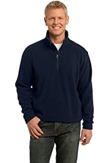 L Red Port Authority Mens Polyester Fleece 1//4-Zip Pullover Jacket