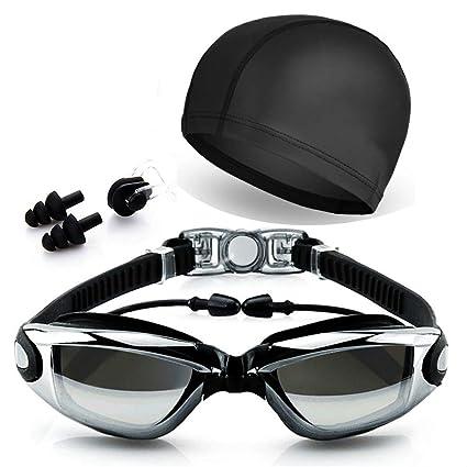 652c4d784f92 Amazon.com   Peacoco Swim Goggles with PU Swim Cap