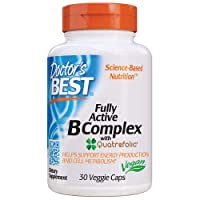 Doctor's Best Fully Active B Complex, Non-GMO, Gluten Free, Vegan, Soy Free, Supports Energy Production, 30 Veggie Caps
