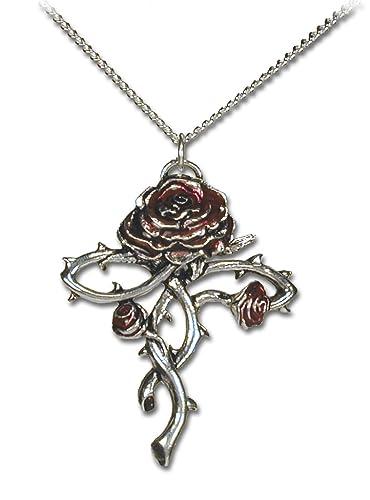 Amazon rosy croix romantic gothic rose cross necklace rosy croix romantic gothic rose cross necklace aloadofball Choice Image