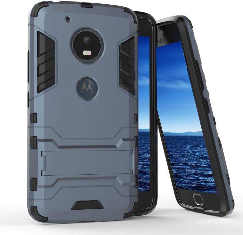 Funda Dura para Motorola Moto G5 Plus híbrida | Azul: Amazon.es: Electrónica