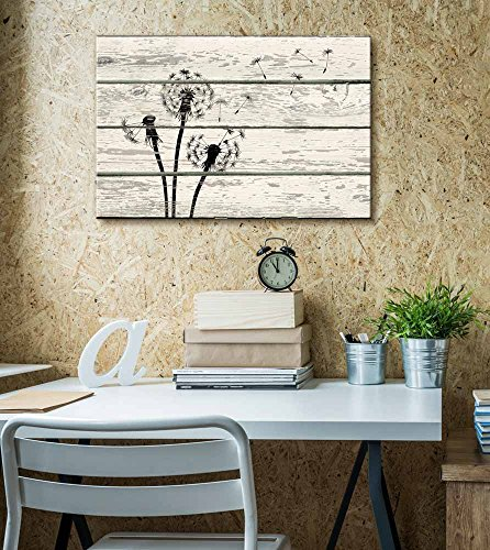 Dandelion in Wind Artwork Rustic