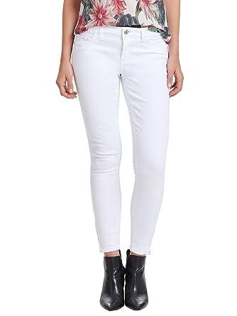 ONLY Damen Jeans-Hose Regular Ankle Skinny-Jeans weiß Röhre  Amazon.de   Bekleidung 37ce5b3fed