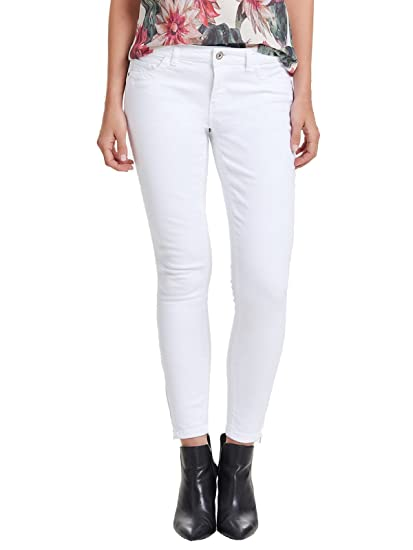 ae2ab796307fed ONLY Damen Jeans-Hose Regular Ankle Skinny-Jeans weiß Röhre  Amazon ...