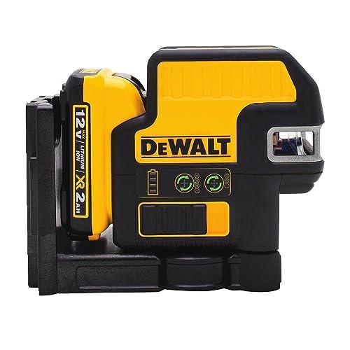 DEWALT DW0825LG 5 Spot + Cross Line Laser, Green Beam