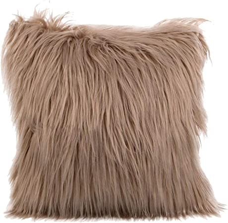 Solid Shearling Pillow in 2020