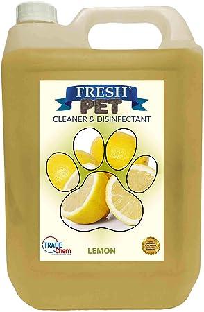 Trade Chemicals Fresh Pet Kennel Cattery Cleaner Disinfectant Kills 99 99 Bacteria Eliminates Odour Lemon Fresh Amazon Co Uk Pet Supplies