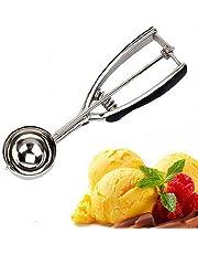 homiki 5 cm cuchara para helado de acero inoxidable fruta helado puré de papas bola de