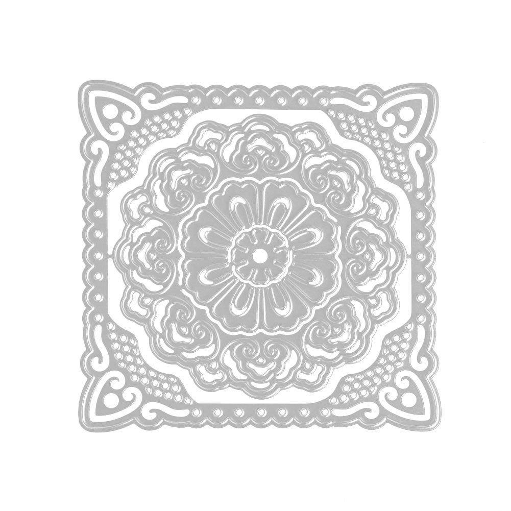 19.1 x 14.4 x 0.4 cm Multicolour Metal Sizzix Thinlits Die Set 5PK-Stacked Deckle by Tim Holtz