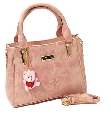 3bd4449c3a0 Jimmy Choo Polyester Bloom Fashion Stylish Women's Handbag (Peach ...