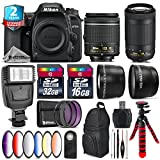 Holiday Saving Bundle for D7500 DSLR Camera + AF-P 70-300mm VR Lens + AF-P 18-55mm + 6PC Graduated Color Filter + 2yr Extended Warranty + 32GB Class 10 Memory + Backpack - International Version