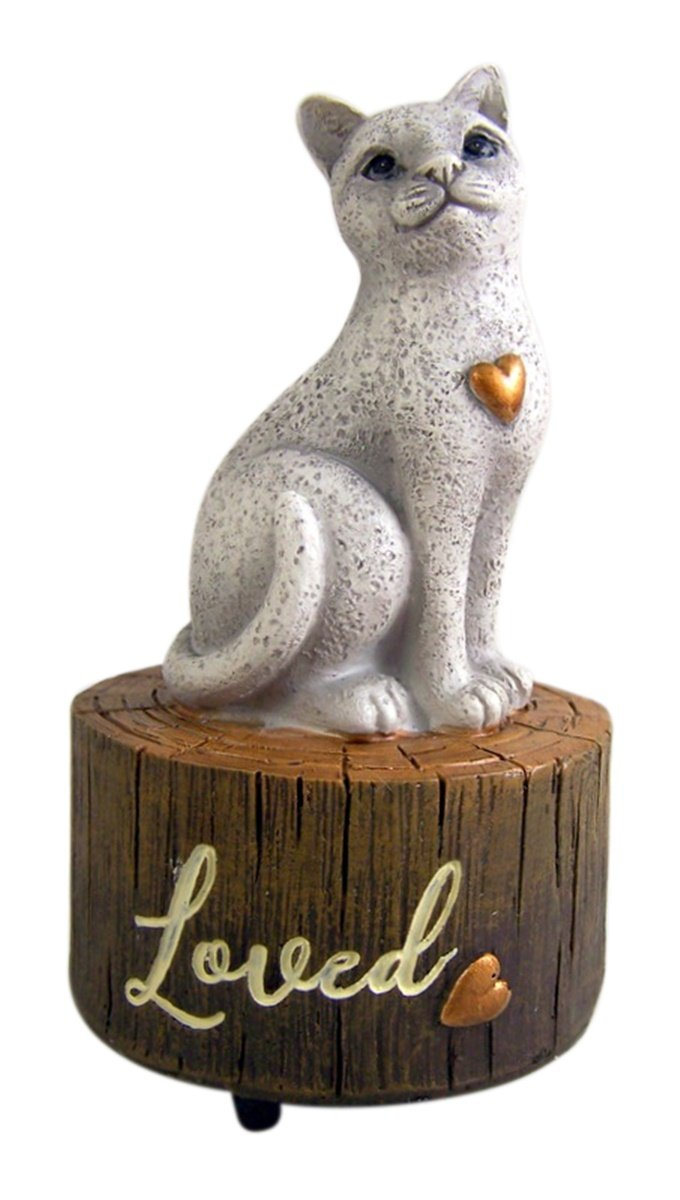 Hand Painted Resin Cat Musical Figurine 5 1//2 Inch Carson Plays My Favorite Things