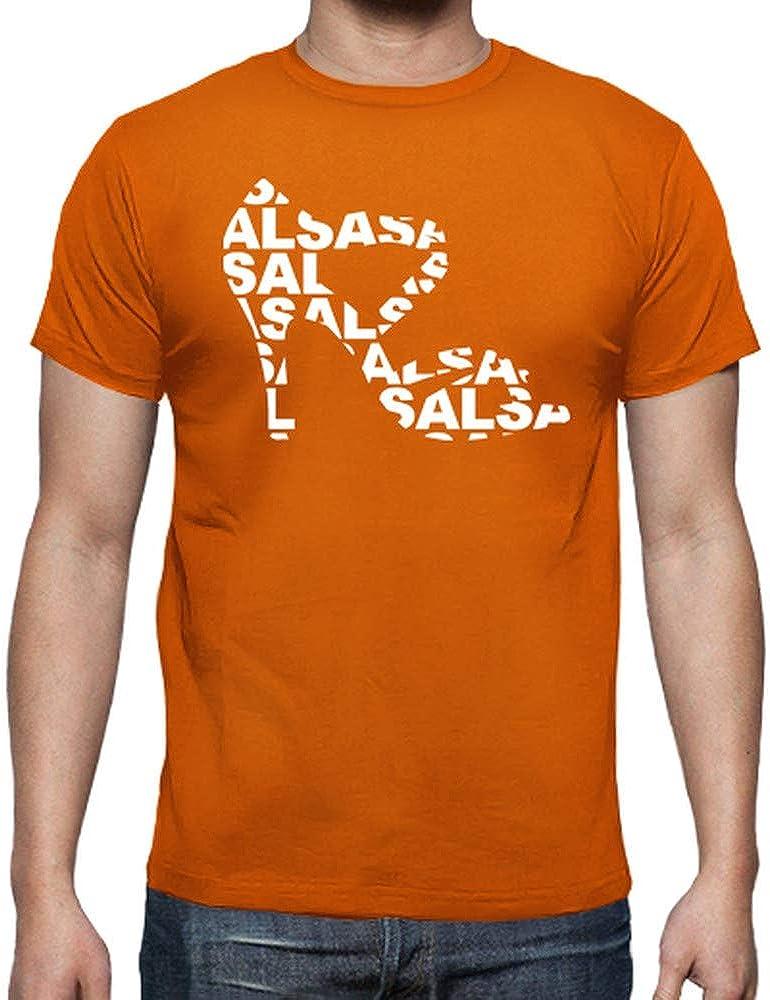 latostadora - Camiseta Zapato de Baile con Salsa para Hombre Naranja M: shinkitune: Amazon.es: Ropa y accesorios