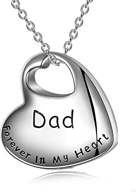 Cremation Jewelry Sterling Silver Forever in My Heart Urn Necklace for Ashes for Women Ashes Keepsake Pendant Necklace