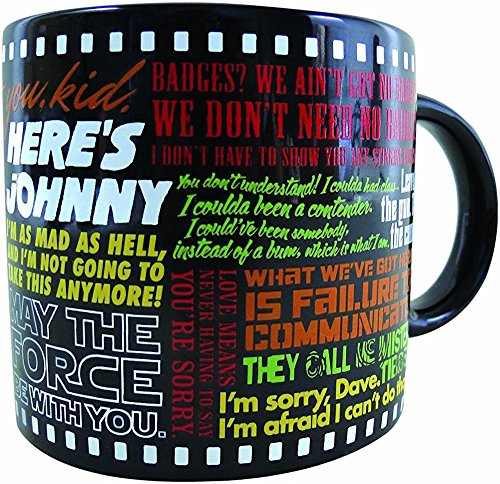 Classic Movie Coffee Mug - The Most Famous Lines from Your Favorite Movies - From Star Wars to The Wizard Of Oz - Comes in a Fun Gift Box - by The Unemployed Philosophers Guild ()