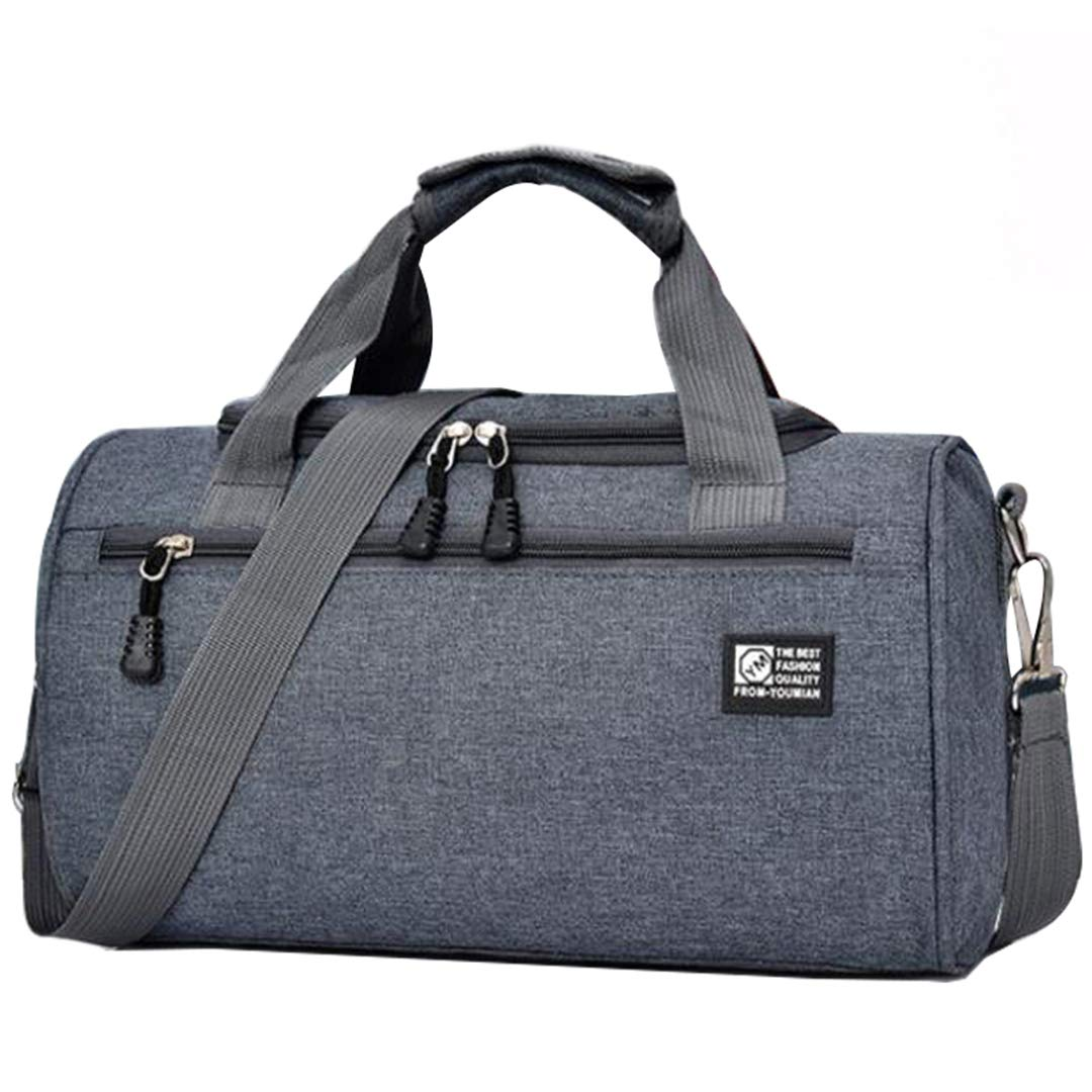 ADGAI Fog and Mountain Canvas Travel Weekender Bag,Fashion Custom Lightweight Large Capacity Portable Luggage Bag,Suitcase Trolley Bag
