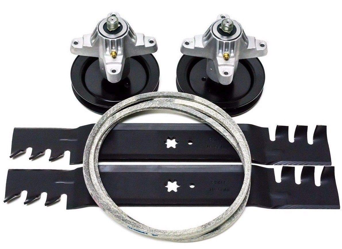 Lawnmower parts 918-0659 Cub Cadet 42'' LT 1042 LT1042 Deck Rebuild Kit Blades Spindles Belt MTD + (Free E-Book) A Complete Guidance to Take Care of Your Lawn