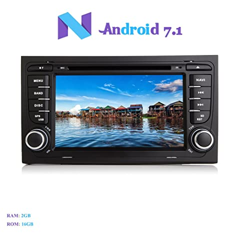 Amazon.com: Android 7.1 estéreo para coche, Hi-azul 2 Din ...