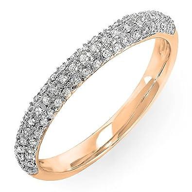 Amazoncom 025 Carat ctw 14k Gold Round Diamond Ladies Pave
