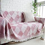 Sofa blankets and throws soft,Sofa blanket cover couch cover decorative knitted blanket anti-Slip all-Inclusive full cover-F 240x270cm(94x106inch)