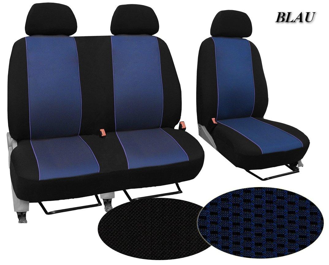 Modellspezifischer Sitzbezug Fahrersitz POK-TER-BUS Ma/ßgefertigter Sitzbezug Super Qualit/ät Muster im Foto 2er Beifahrersitzbank F/ür Citroen Jumper II in Diesem Angebot Schwarz STOFFART VIP .