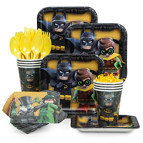 [Lego Batman Standard Tableware Kit (Serves 8)] (Batman And Robin Movie Costumes)