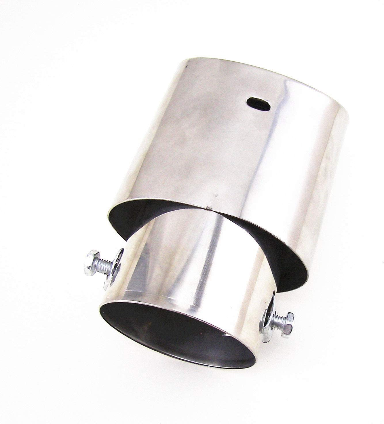 Vosarea Car Universal Stainless Steel Auto Exhaust Tail Tip Pipe Cover Muffler Oval Opening