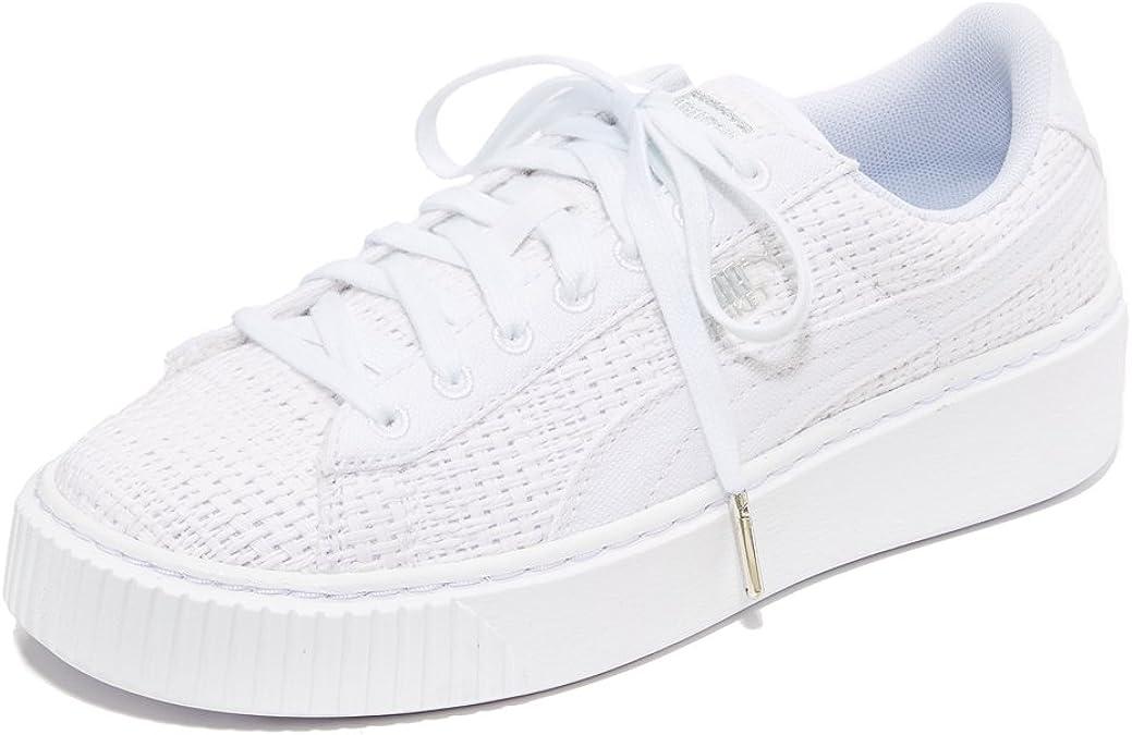 para castigar Noreste Compulsión  Amazon.com | PUMA Women's Basket Platform Woven Sneakers | Shoes