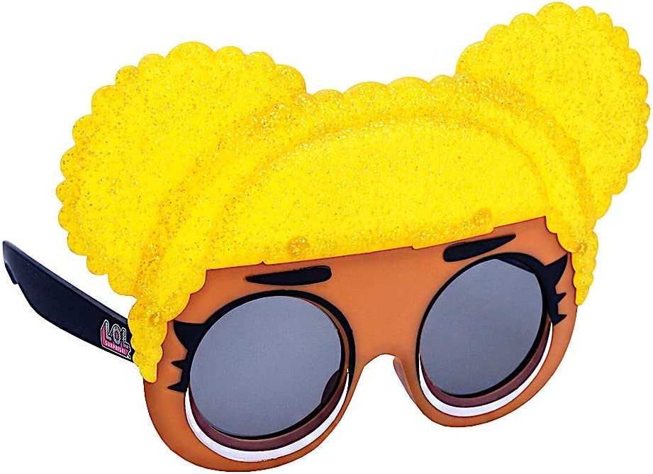 Brown Black Yellow Sun-Staches LOL Surprise Queen Bee Lil Characters Sunglasses Party Favor Shades