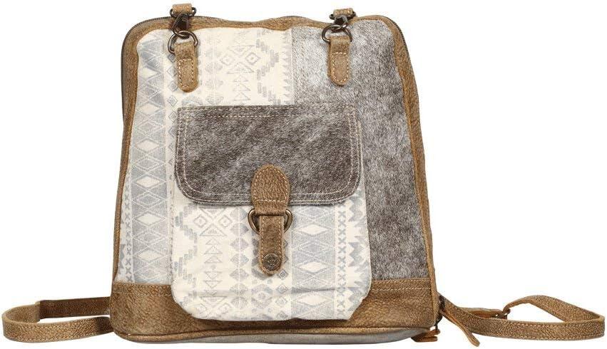 Myra Bag Stupefy Upcycled Canvas /& Leather Backpack S-1364