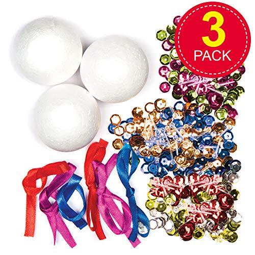 Pour LArtisanat De No/ël Baker Ross AX431 Perles Poney DHiver La Fabrication De Bijoux Et Les D/écorations Paquet De 750