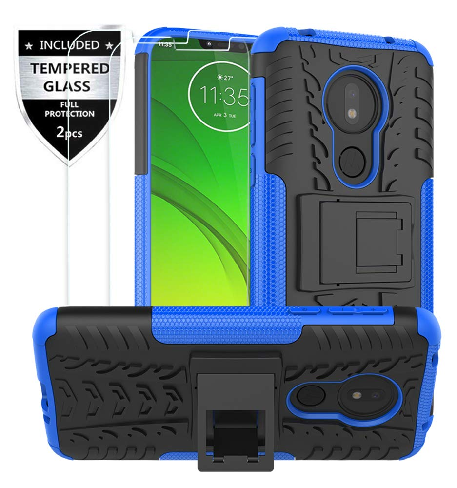 Funda + Vidrio Para Moto G7 Power Con Pie Remex (7pr66qnf)