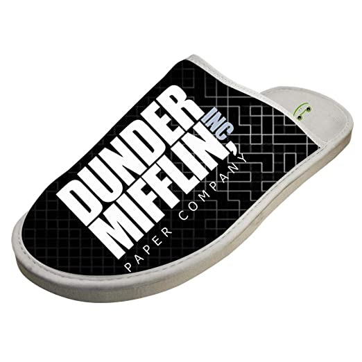 ebdccd092cbcc Amazon.com: JJZZA Adult Stylish Design House Slippers,Dunder Mifflin ...