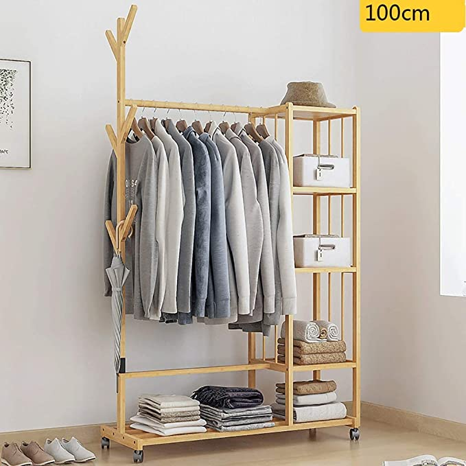 Amazon.com: Gaoye - Perchero de pared de madera maciza para ...