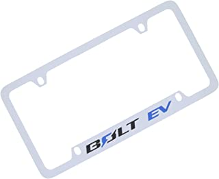 product image for Chevrolet Bolt EV Wordmark Chrome Plated Metal License Plate Frame Holder