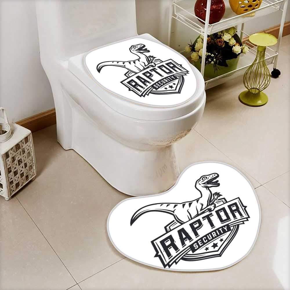 also easy Bathroom Non-Slip Floor Mat raptor sport logo mascot design vintage college team coat of arms Cushion Non-slip