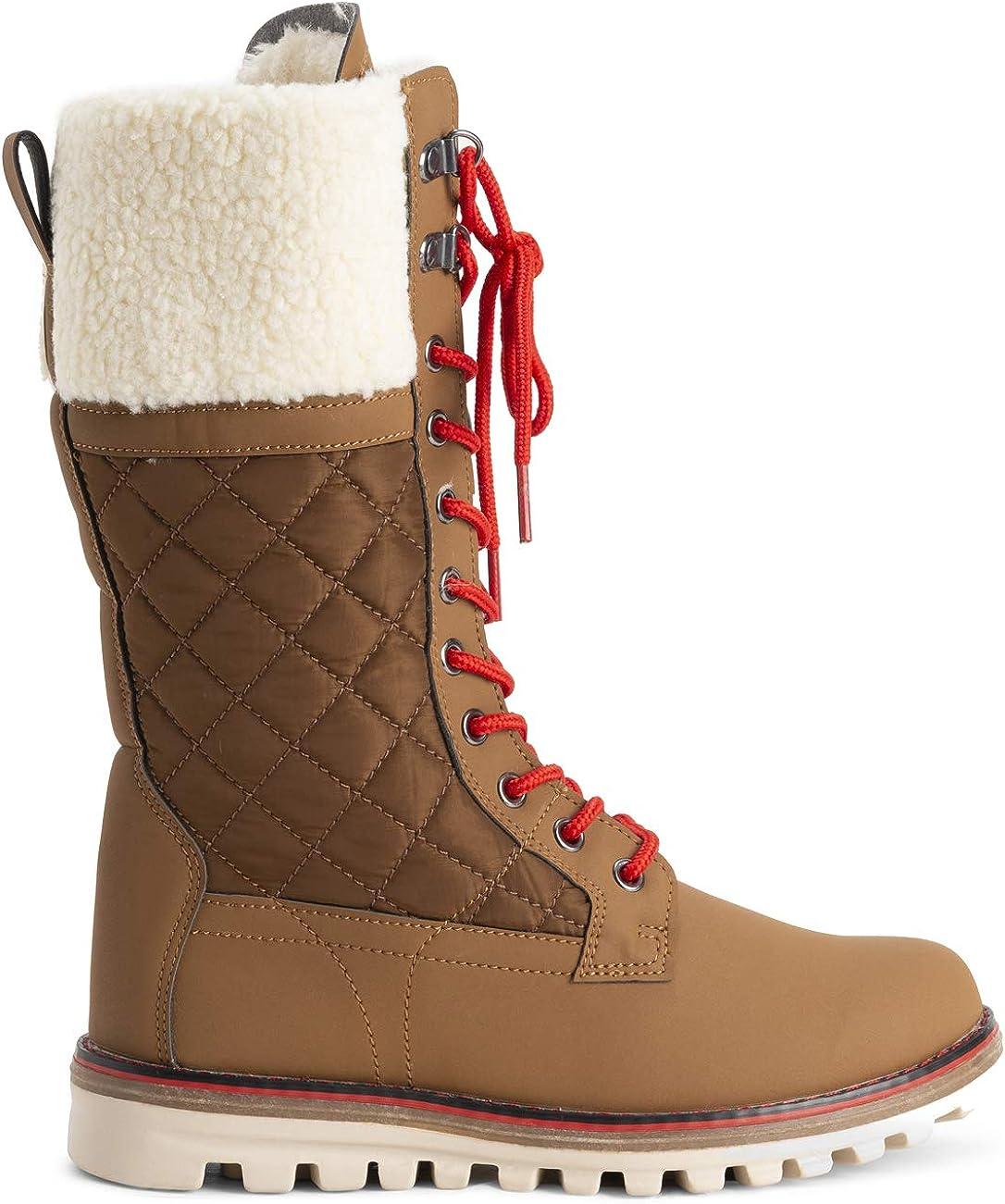 Polar Damen Schnee Dauerhaft Draussen Thermal Winter Warm Wasserdicht Mittelhoher Stiefel