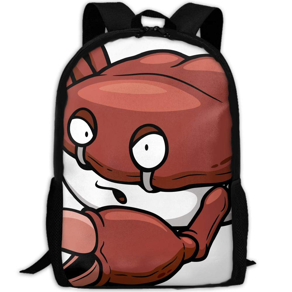 OIlXKV Cartoon Crab Print Custom Casual School Bag Backpack Multipurpose Travel Daypack For Adult