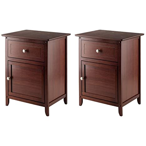 Amazon.com: Winsome 94215 Eugene Accent Night Table, 18.9 ...