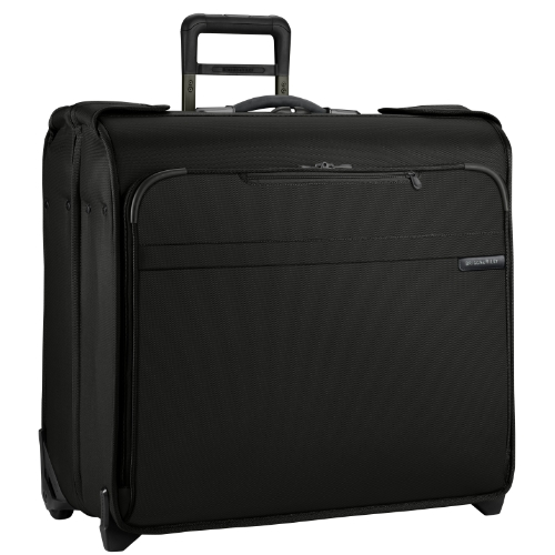 Briggs and Riley Luggage Baseline Wheeled Wardrobe Bag, Black, Small, Bags Central