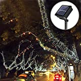 Solarmks Solar String Lights,100 LED Outdoor String Lights, Copper Wire Fairy Lights Waterproof Decorative String Lights for Patio, Gate, Yard, Party, Wedding, Christmas,Garden