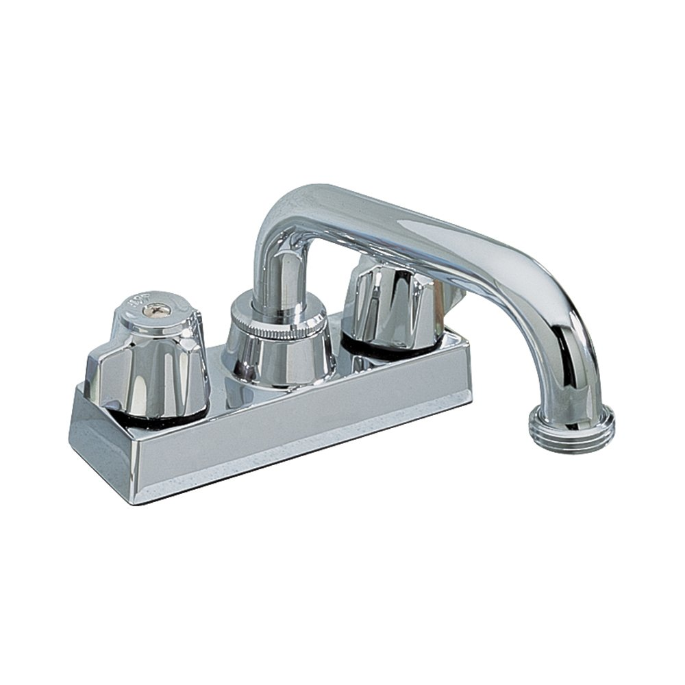 Aqualife Washerless Swivel Spout Two Handle Utility Faucet – Chrome
