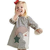 Funic - Ropa para bebé y niñas, diseño de Papá Noel a rayas