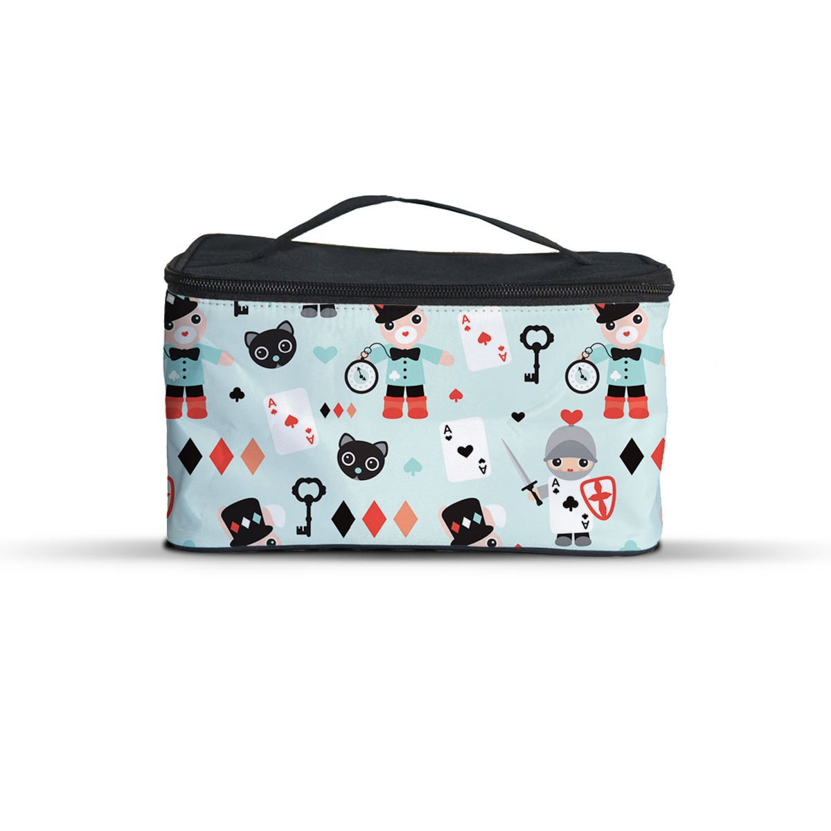 7580a6695285 Amazon.com  Queen of Cases Alice In Wonderland Friends Cosmetics Storage  Case - One Size Cosmetics Storage Case - Makeup Zipped Travel Bag  Home    Kitchen