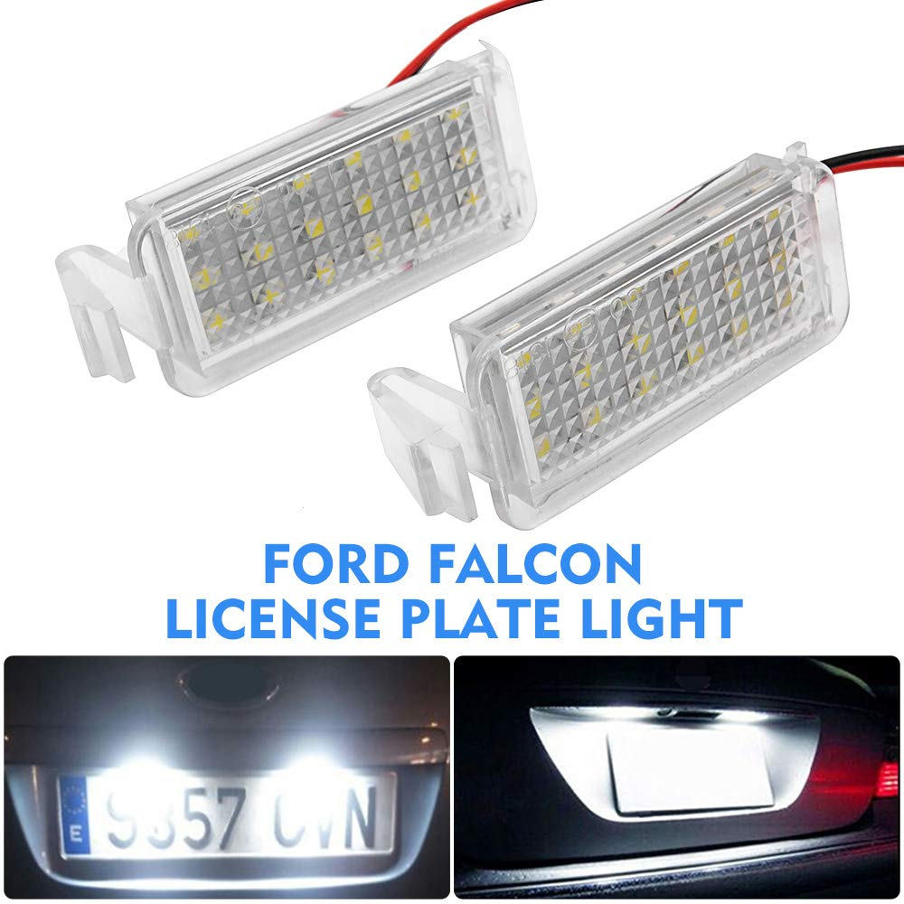 2x Ford KA MK2 Bright Xenon White LED Number Plate Upgrade Light Bulbs