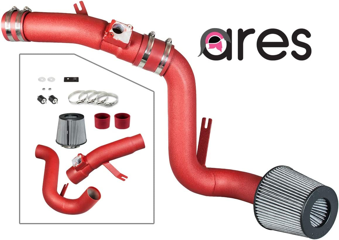S /& T RACING INC 2.75 RED Heat Shield Cold Air Intake SCI-AR-10014RK