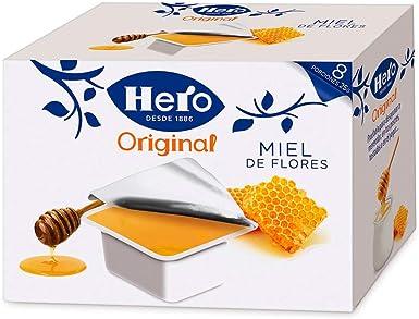 Hero Porciones de Confitura Miel - Paquete de 8 x 25 gr - Total: 200 gr - [ Pack de 6]: Amazon.es: Alimentación y bebidas