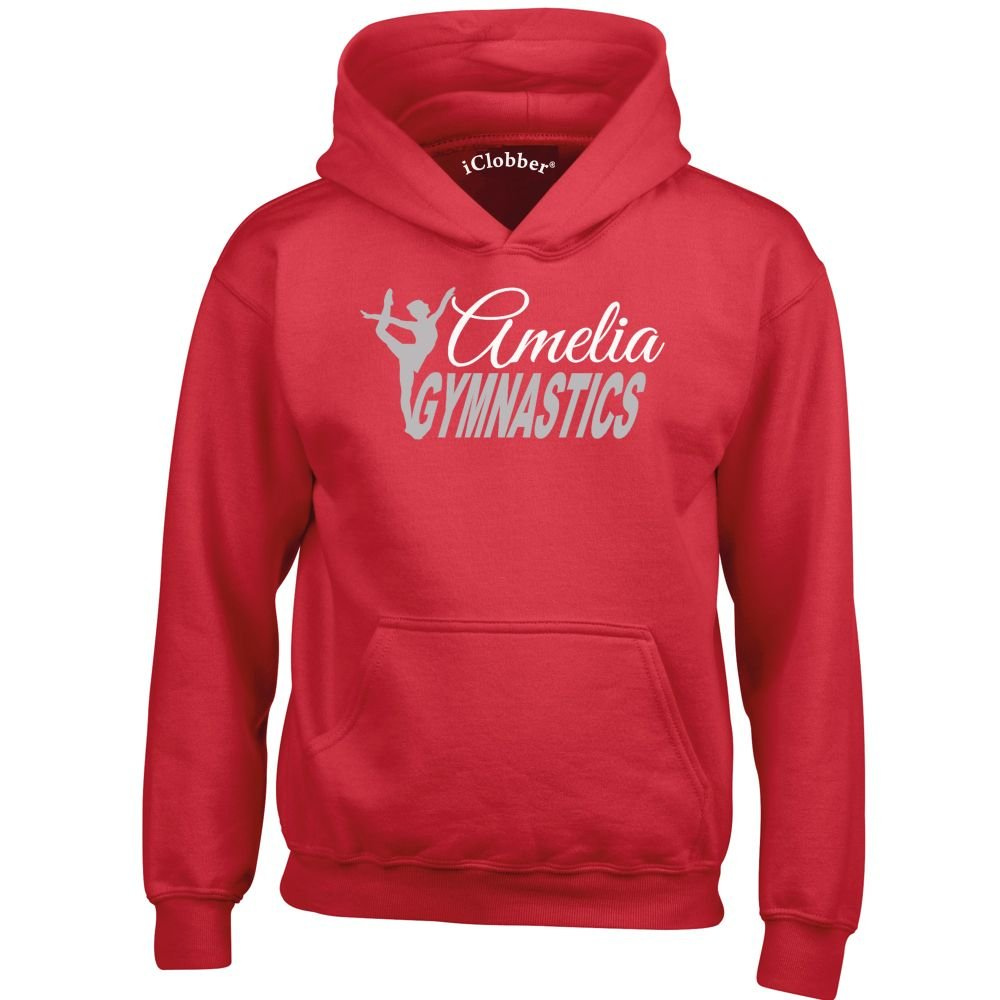 iClobber Gymnastics 2 Colour Design Hoodie Personalised with Your Name