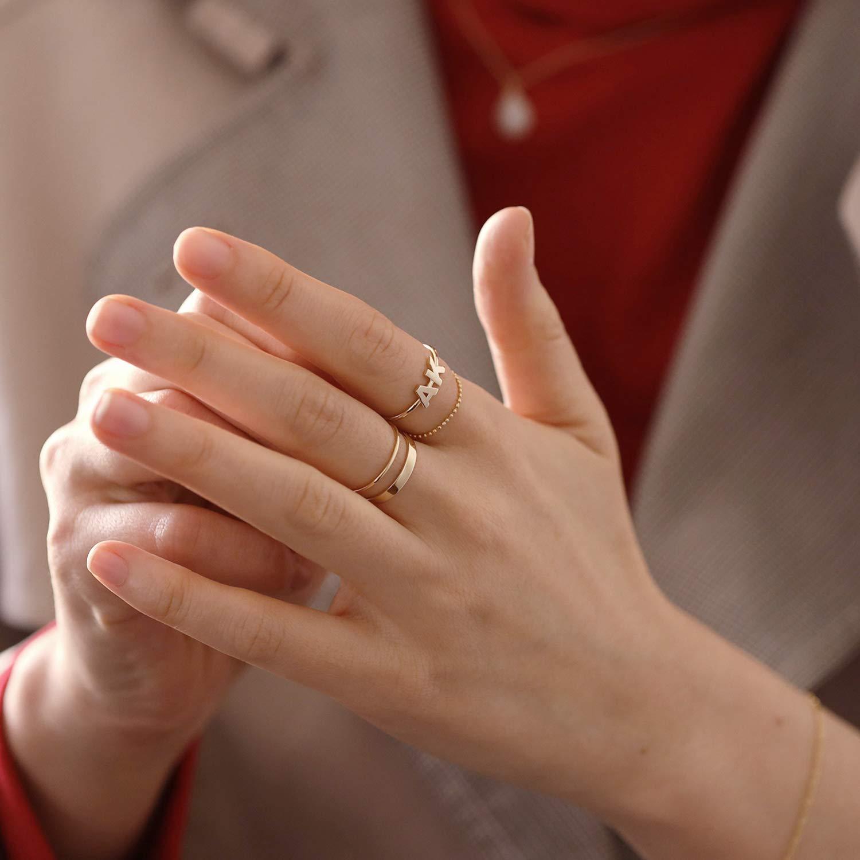 dainty ring solid gold ring 14K-9K \u2013 gold band ring \u2013 fingerprint ring \u2013 oval ring \u2013 personalized ring \u2013 custom ring \u2013 minimal ring